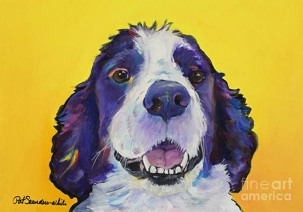 English Springer Spaniel Art Print featuring the painting Dolly by Pat Saunders-White