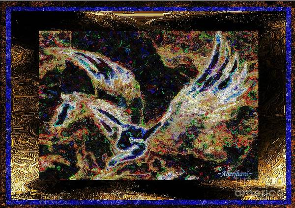 Chromatic Poetics Art Print featuring the mixed media Dream Of The Horse With Painted Wings by Aberjhani