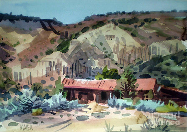 New Mexico Art Print featuring the painting Espanola On The Rio Grande by Donald Maier