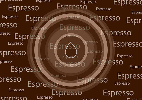 Coffee Art Art Print featuring the painting Espresso by Frank Tschakert