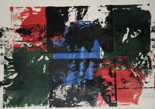 Abstract Art Print featuring the painting Evil Has Two Sides by Edward Wolverton