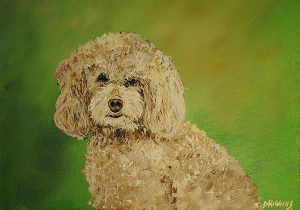 Poodle Art Print featuring the painting Fancy Girl by James Higgins