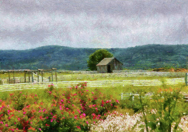 Suburbanscenes Art Print featuring the photograph Farm - Barn - Out In The Country by Mike Savad