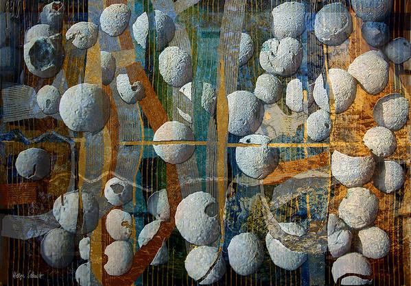 Photopainting Art Print featuring the digital art Floating Elements by Helga Schmitt