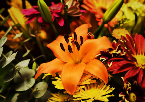 Flower Art Print featuring the photograph Floral Arrangement by Al Mueller