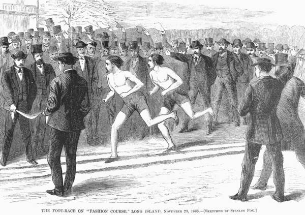 1868 Art Print featuring the photograph Foot Race, 1868 by Granger