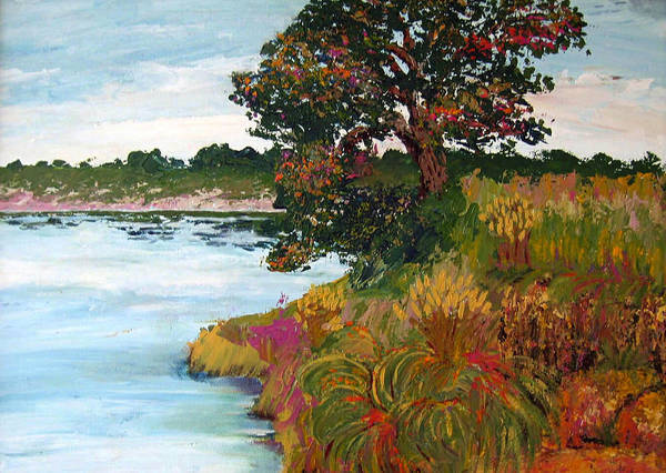 Art Nomad Art Print featuring the painting Ganges Tree by Art Nomad Sandra Hansen