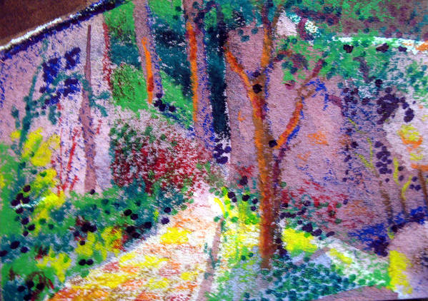 Aceo Art Print featuring the painting Garden Tour by Bill Meeker