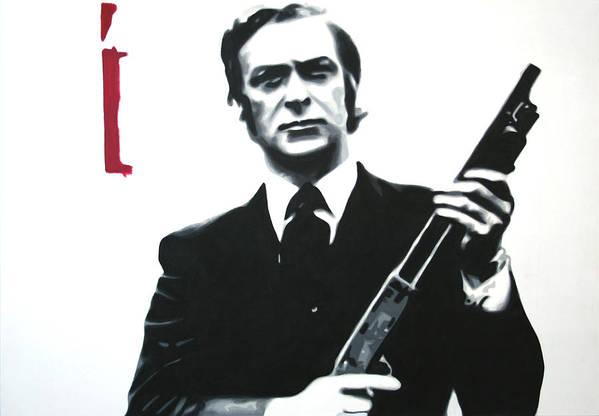 Michael Caine Art Print featuring the painting Get Carter 2013 by Luis Ludzska