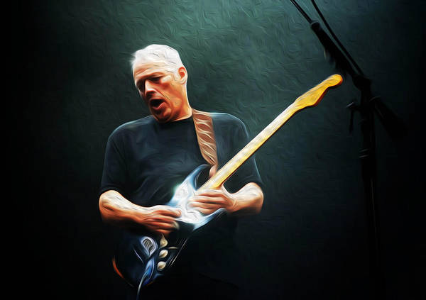 David Gilmour Art Print featuring the painting Gilmour #7602 By Nixo by Never Say Never