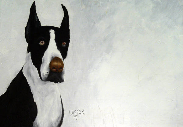 Art Print featuring the painting Great Dane by Dick Larsen