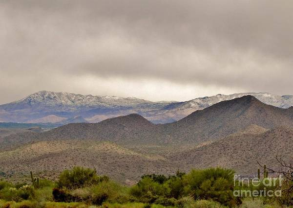 Arizona Landscape Art Print featuring the photograph Here Comes The Sun by Marilyn Smith