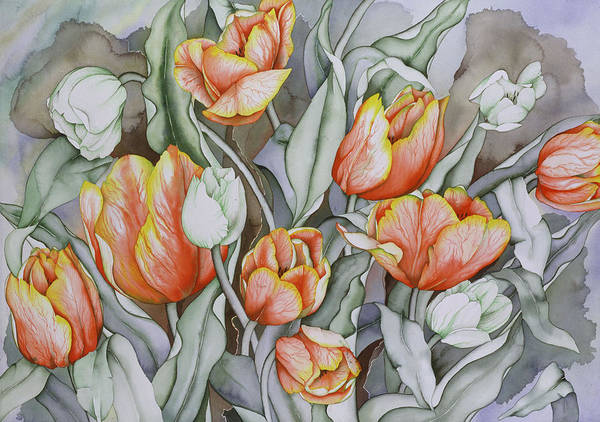 Flowers Art Print featuring the painting Home Sweet Home 2 by Liduine Bekman