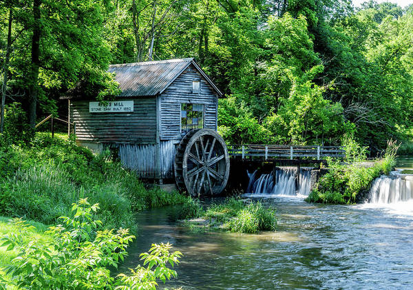 Hyde Art Print featuring the photograph Hyde's Mill by Bob Krzmarzick