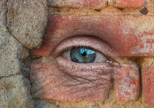 Eye Art Print featuring the mixed media I Spy With My Little Eye by Clive Littin