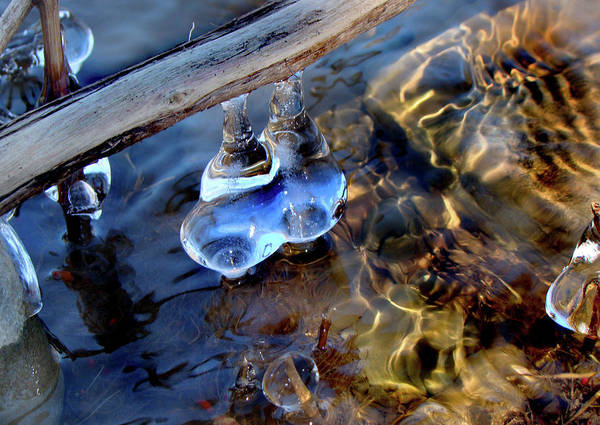 Art Print featuring the photograph Ice Jewels And Ripples by Paula Friedman