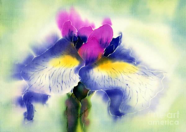 Painting Art Print featuring the painting Iris Kaempheri Nikko by Addie Hocynec