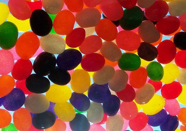 Candy Rainbow Treat Colorful Jellybean Print featuring the photograph Jellybeans by Anna Villarreal Garbis
