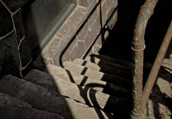 Steps Art Print featuring the photograph Johnny's In The Basement by Odd Jeppesen