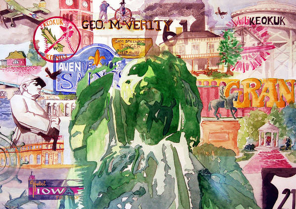 Keokuk Art Print featuring the painting Keokuk Legacy by Jame Hayes