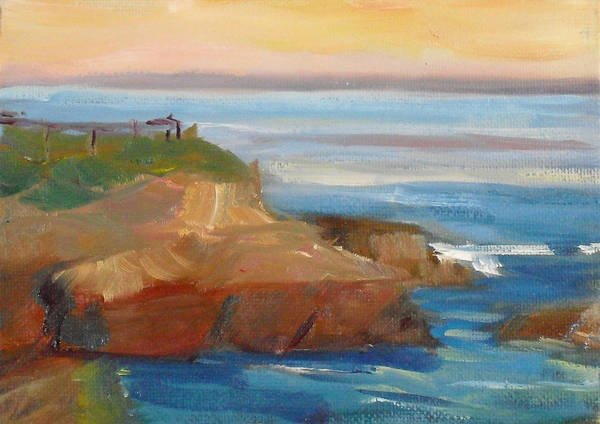 100 Paintings Art Print featuring the painting La Jolla Cove 018 by Jeremy McKay