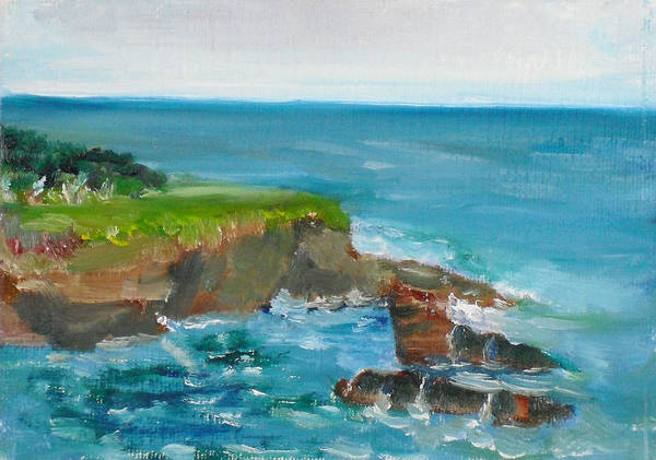 100 Paintings Art Print featuring the painting La Jolla Cove 030 by Jeremy McKay