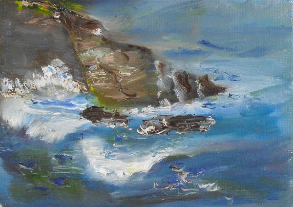 100 Paintings Art Print featuring the painting La Jolla Cove 034 by Jeremy McKay