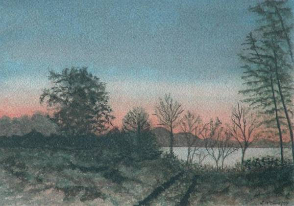Lake Art Print featuring the painting Lace Morning by Lynn ACourt