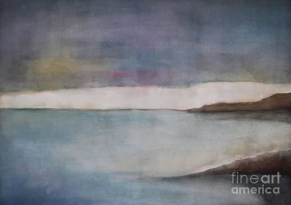 Ocean Art Print featuring the painting Lagoon Bleu by Vesna Antic