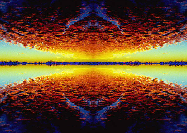 Sunset Art Print featuring the photograph Last Sunset by Nancy Mueller