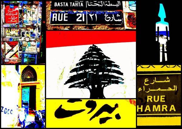 Lebanon Art Print featuring the photograph Lebanon Famous Icons by Funkpix Photo Hunter