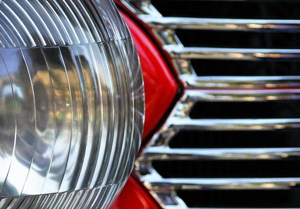 Car Art Print featuring the photograph Light And Grill by Dan Holm
