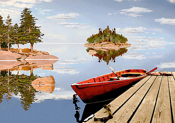 Maine Art Print featuring the photograph Maine-tage by Peter J Sucy