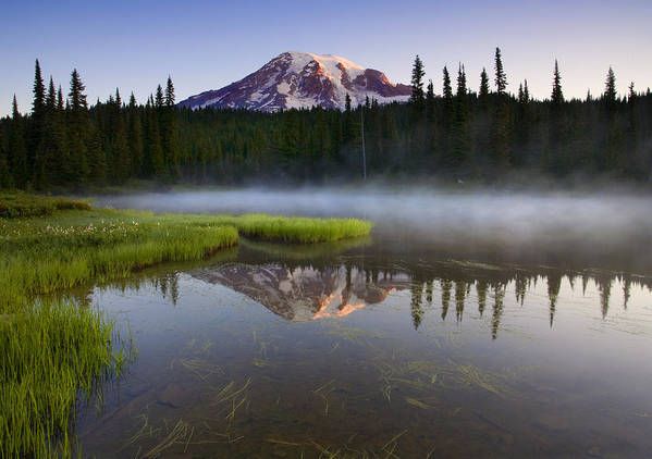 Lake Art Print featuring the photograph Majestic Dawn by Mike Dawson