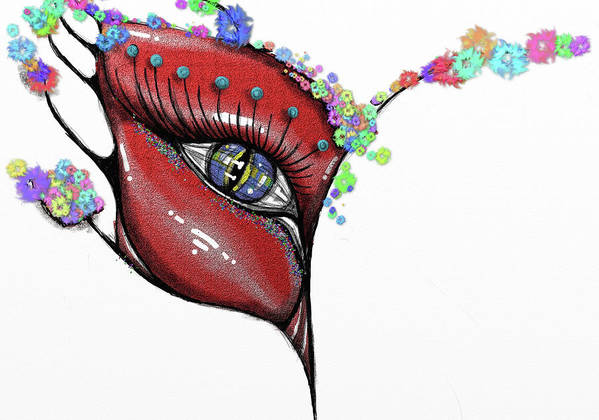 Mask Art Print featuring the painting Mask Elegance by Rana King