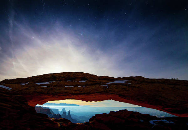 Mesa Arch Art Print featuring the photograph Moonlit Mesa by Peter Irwindale