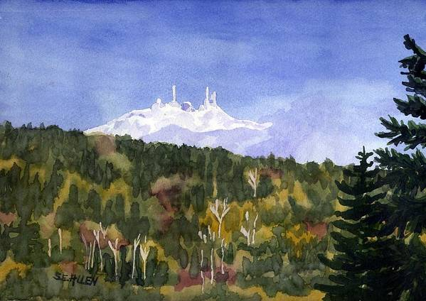 Landscape Art Print featuring the painting Almost Mystical by Sharon E Allen