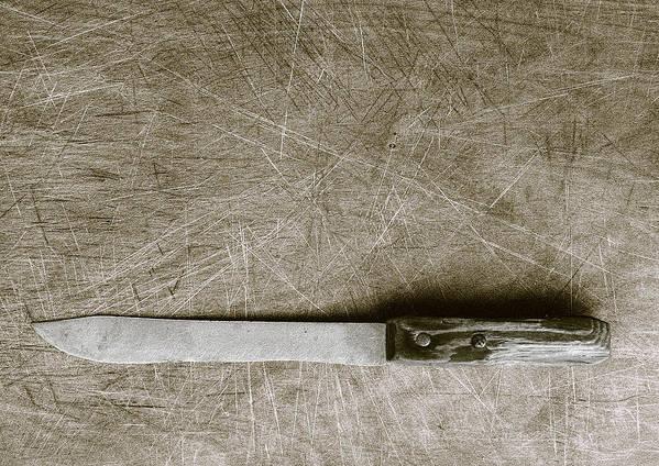 Found Object Art Print featuring the digital art My Mother's Knife by Robert Sako