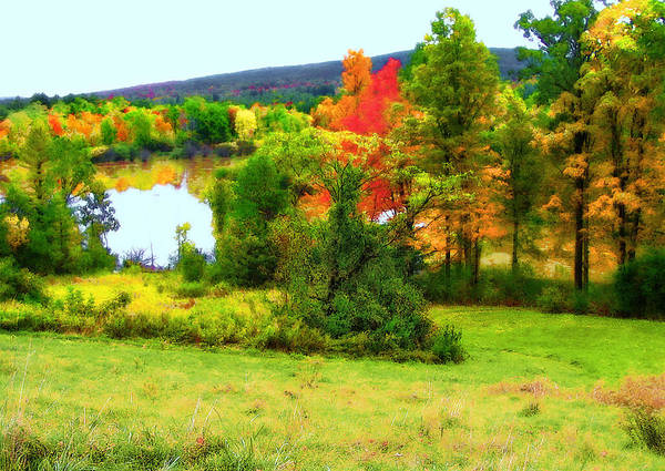 Autumn Art Print featuring the photograph New England - Norman Rockwell Museum - Housatonic River Area by Steve Ohlsen
