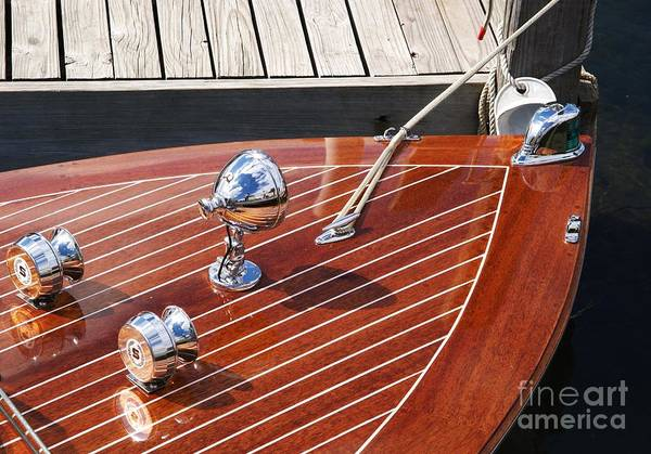Boat Art Print featuring the photograph Outboard Runabout by Neil Zimmerman