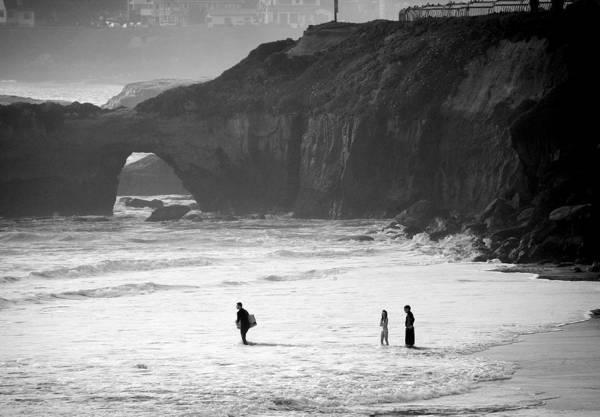 Surf Art Print featuring the photograph Pacific Ocean Scruz by Chuck Kuhn