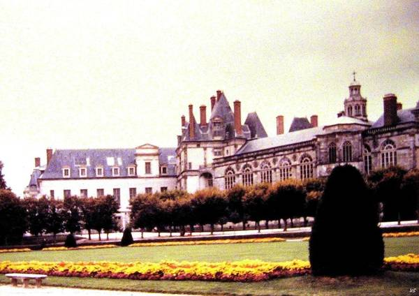 1955 Art Print featuring the photograph Palace Of Fontainebleau 1955 by Will Borden