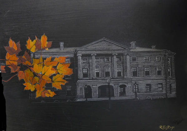 Pei Art Print featuring the painting Pei Province House by Richard Le Page