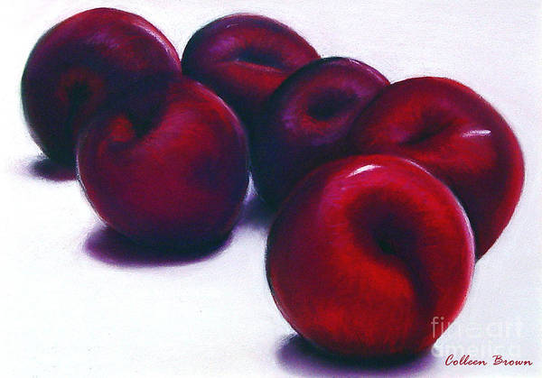 Still Life Art Print featuring the painting Plum Crazy by Colleen Brown