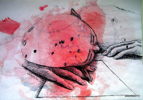 Process Art Print featuring the digital art Process Of Inspiration by Paulo Zerbato