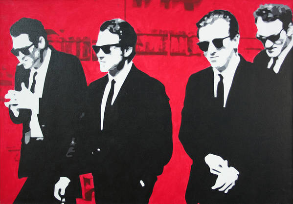 Reservoir Dogs Art Print featuring the painting Reservoir Dogs 2013 by Luis Ludzska