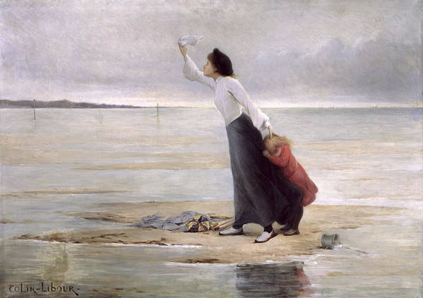 Distress Art Print featuring the painting Rising Tide by Uranie Colin Libour