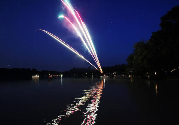 Fireworks Art Print featuring the photograph Roman Candle by Ty Helbach