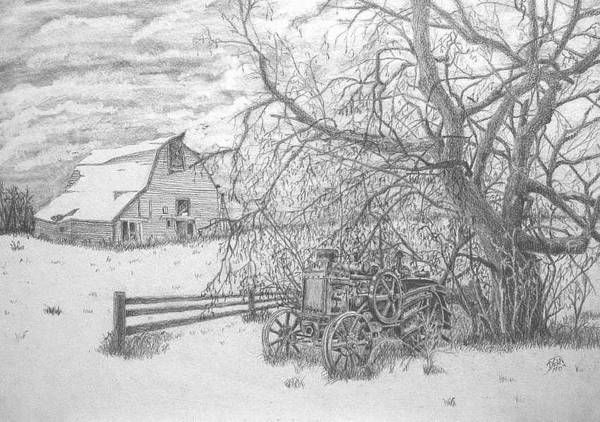 Landscape Art Print featuring the drawing Rumbly by Dean Herbert