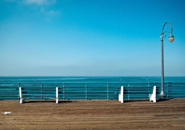 Los Angeles Art Print featuring the photograph Santa Monica Pier by Victoria Savostianova